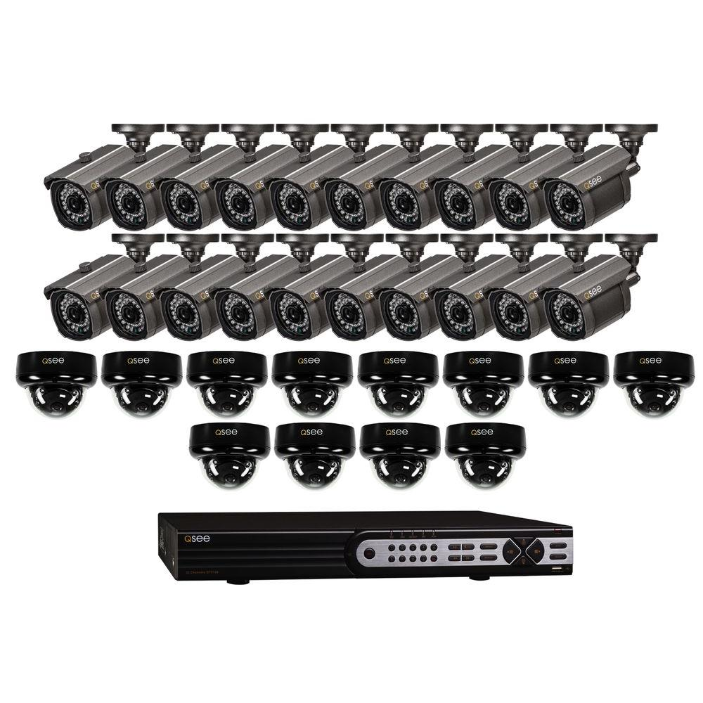 Q-SEE Elite Series 32-Channel D1 3TB Surveillance System with 20 Bullet 900TVL Cameras and 12 Dome 900TVL Cameras