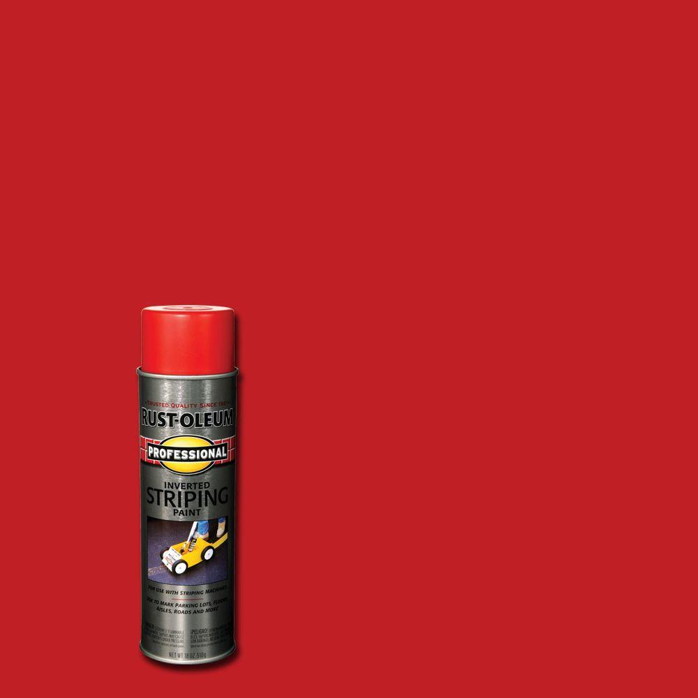 Rust-Oleum Professional 18 oz. Red Striping Spray Paint