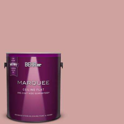 1 gal. #S150-3 Tinted to Rose Pottery Flat Interior Ceiling Paint and Primer in One