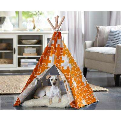 Medium Orange Puzzle Pet Teepee