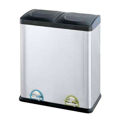 15.85 Gal. Stainless Steel 2-Compartment Touchless Trash Can