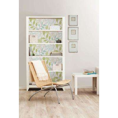 Blue and Green Meadow Peel and Stick Wallpaper Sample