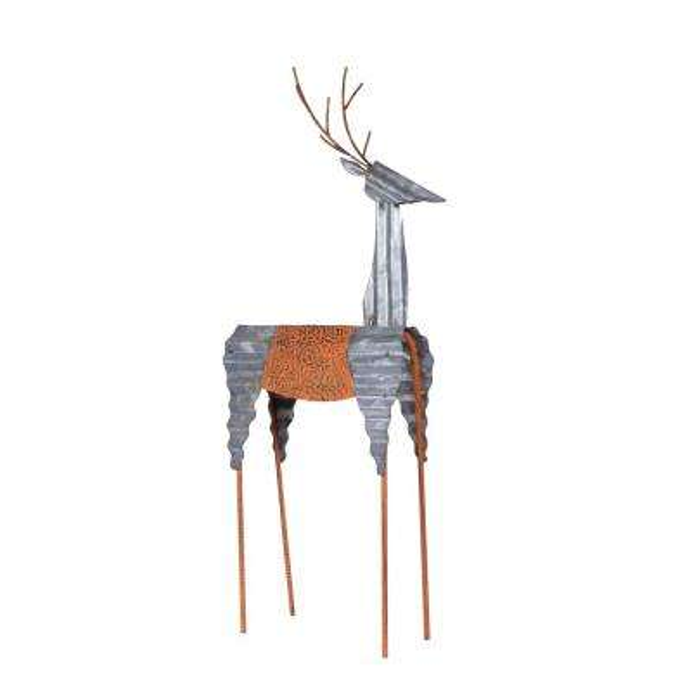 30 in. Metal Deer Holiday Decoration