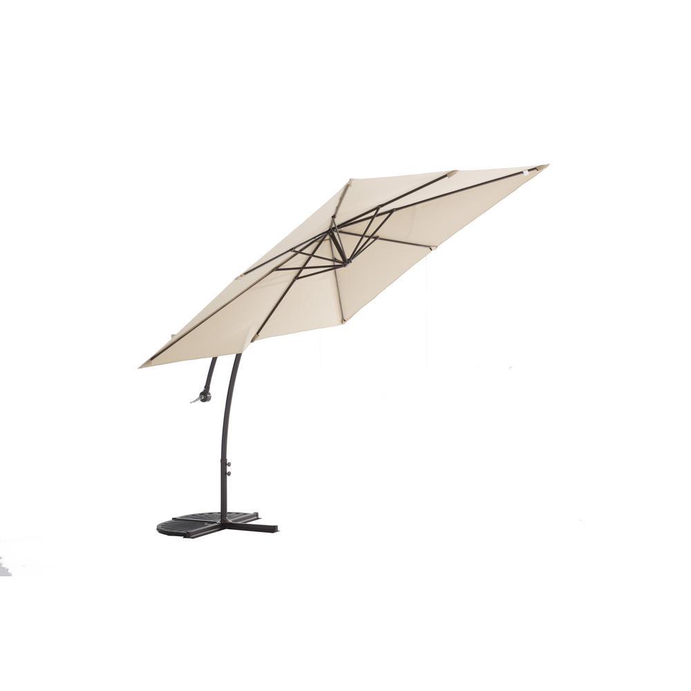 Aluminum Cantilever Patio Umbrella In Beige