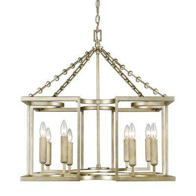 Bellare 8-Light White Gold Chandelier