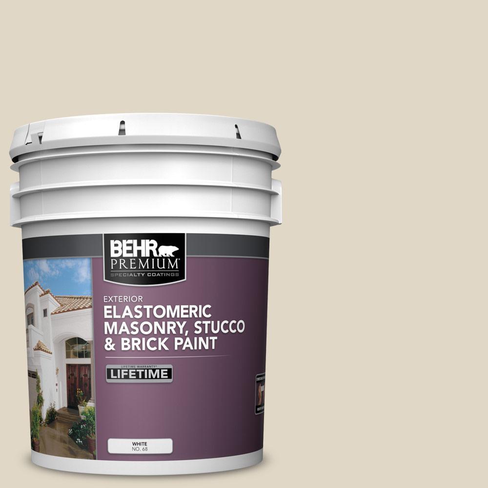 5 gal. #YL-W13 Sentimental Beige Elastomeric Masonry, Stucco and Brick Exterior Paint