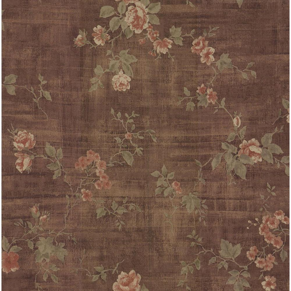Brewster 8 in. W x 10 in. H Textured Rose Wallpaper Sample