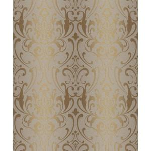 York Wallcoverings Glam Damask Wallpaper by York Wallcoverings