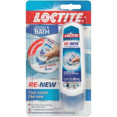 Renew 3.3 fl. oz. White Kitchen and Bath Silicone Caulk