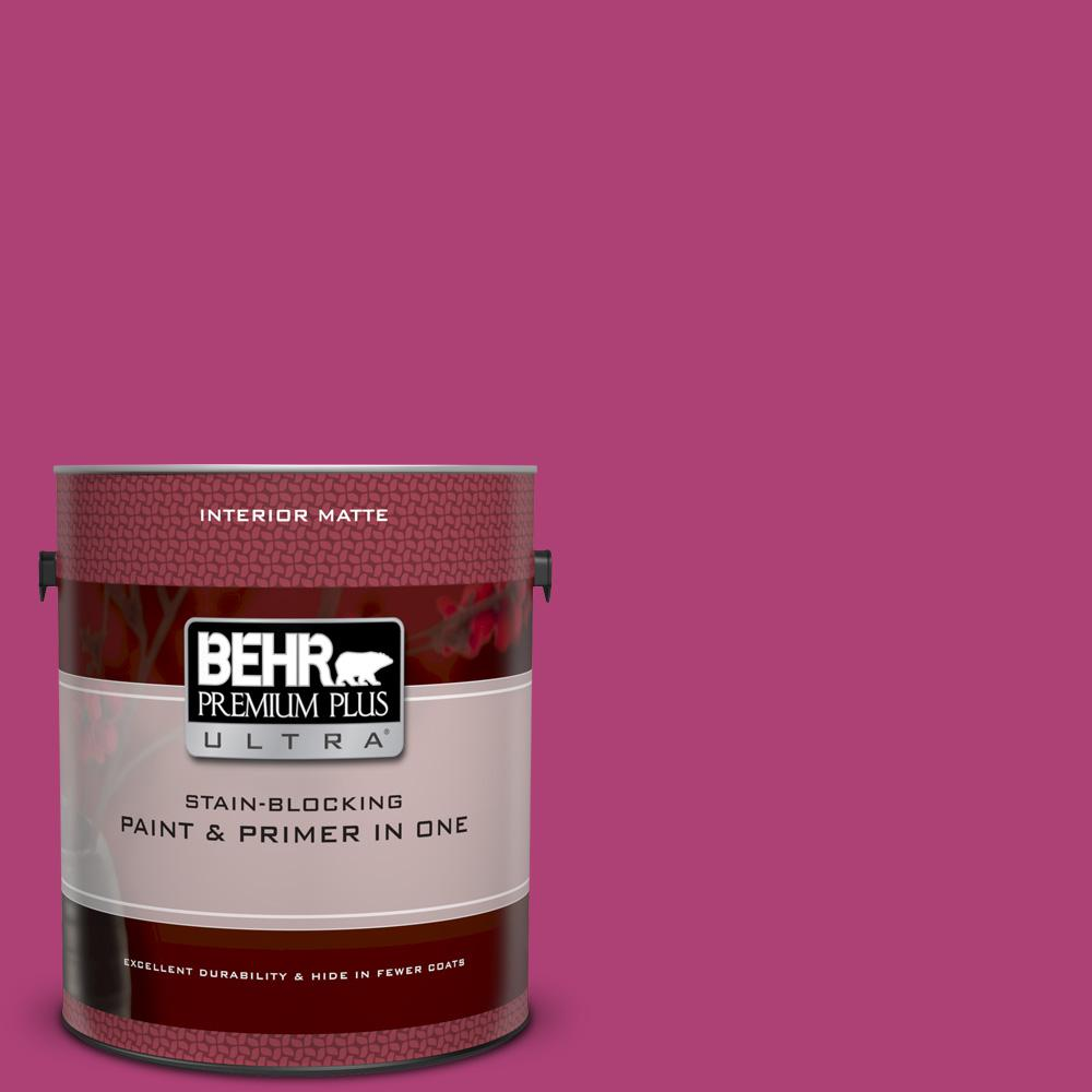 100b 7 Hot Pink Matte Interior Paint And Primer In One