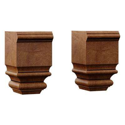 Oxford 3x5x2-7/8 in. Decorative Feet in Toasted Almond Set of 2