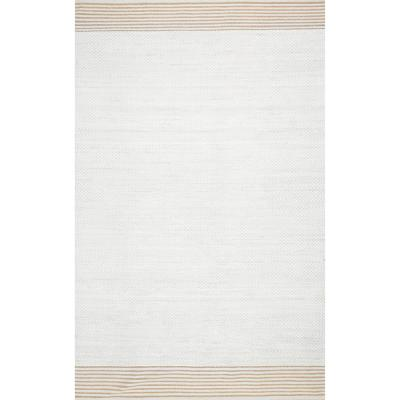 Ariana Casual Textured Ivory 6 ft. x 9 ft. Area Rug