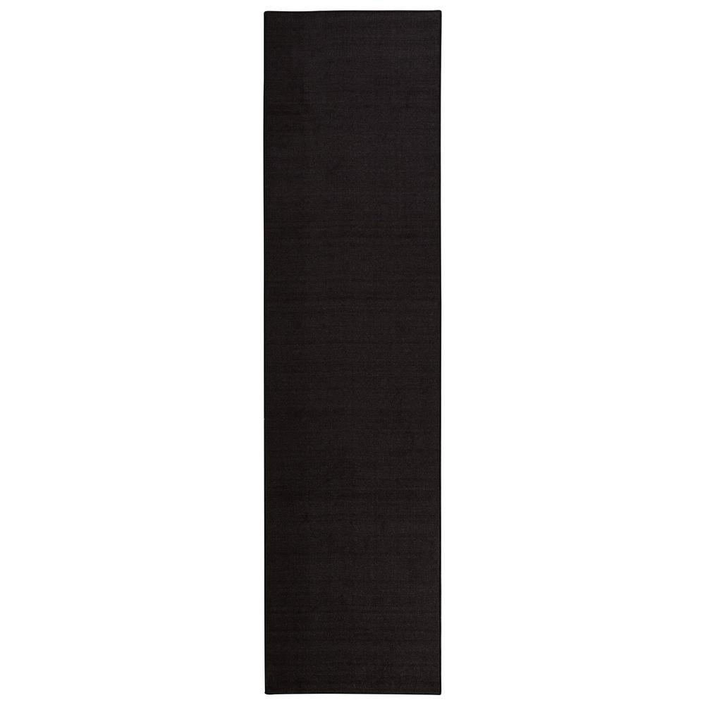 Sweet Home Stores Clifton Collection Solid Design Black 3 ft. x 10 ft. Runner Rug