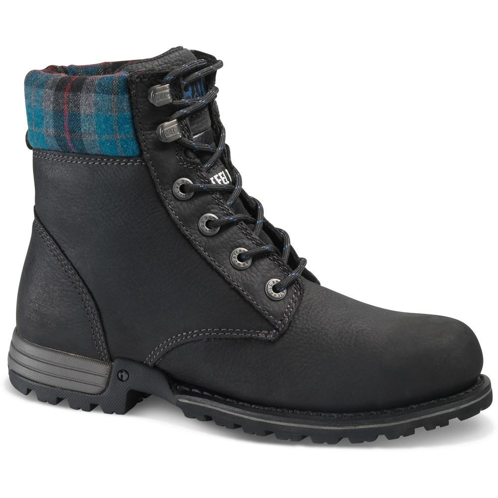 83683f52b5283 CAT Footwear Kenzie Women s Size 5-1 2W Black Steel Toe Work Boots ...