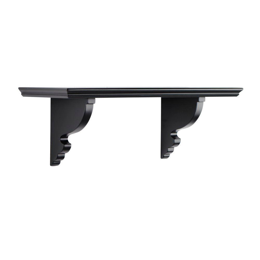Martha Stewart Living Solutions 8 in. Floating Silhouette Ornate Shelf