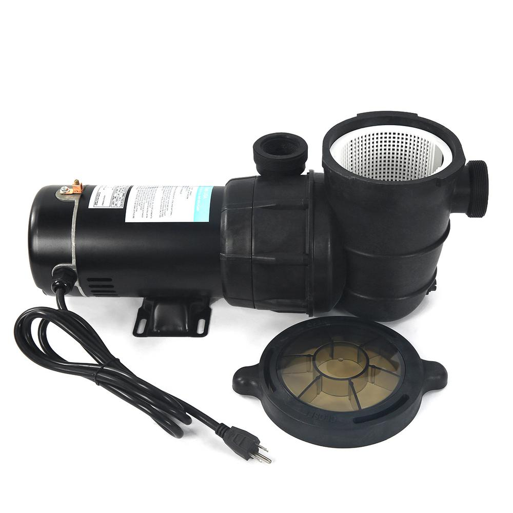 XtremepowerUS 1.5 HP Self Priming Above Ground Swimming Pool Pump 2 in. NPT  With Strainer Basket
