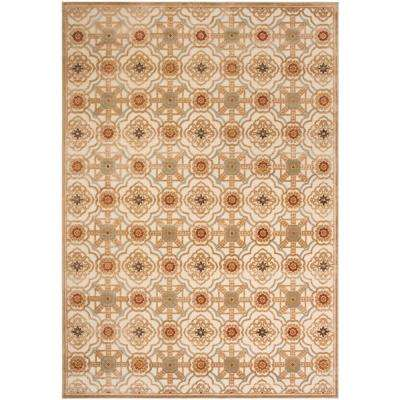 Martha Stewart Taupe/Cream 8 ft. X 11 ft. 2 in. Area Rug