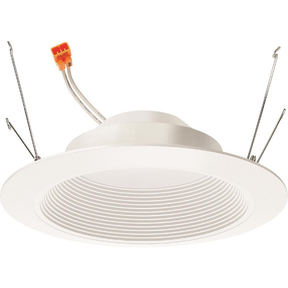 10-Watt 6 in. 700-Lumens 2700K 90CRI White Integrated LED Recessed Trim