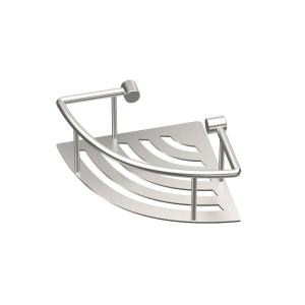 Gatco 8 inch W Elegant Corner Shelf in Brushed Nickel by Gatco