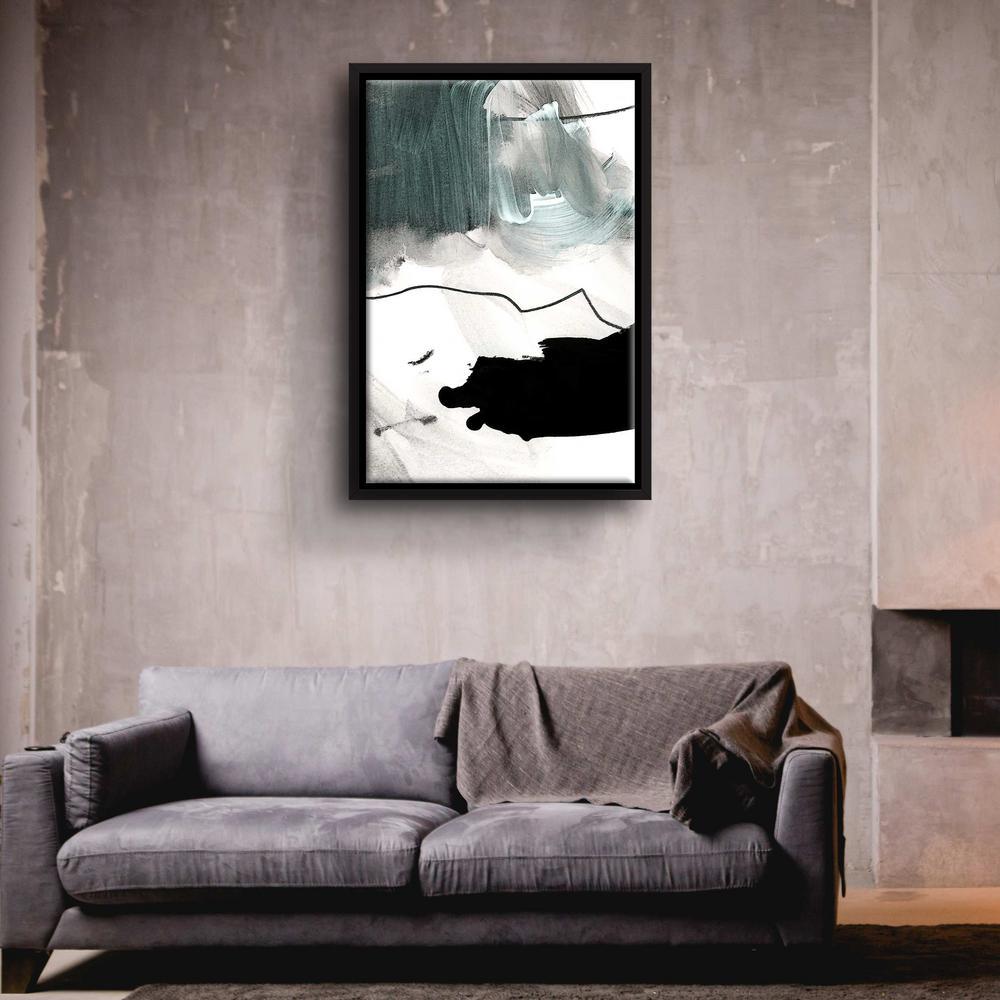 'BS 4' by  Iris Lehnhardt Framed Canvas Wall Art