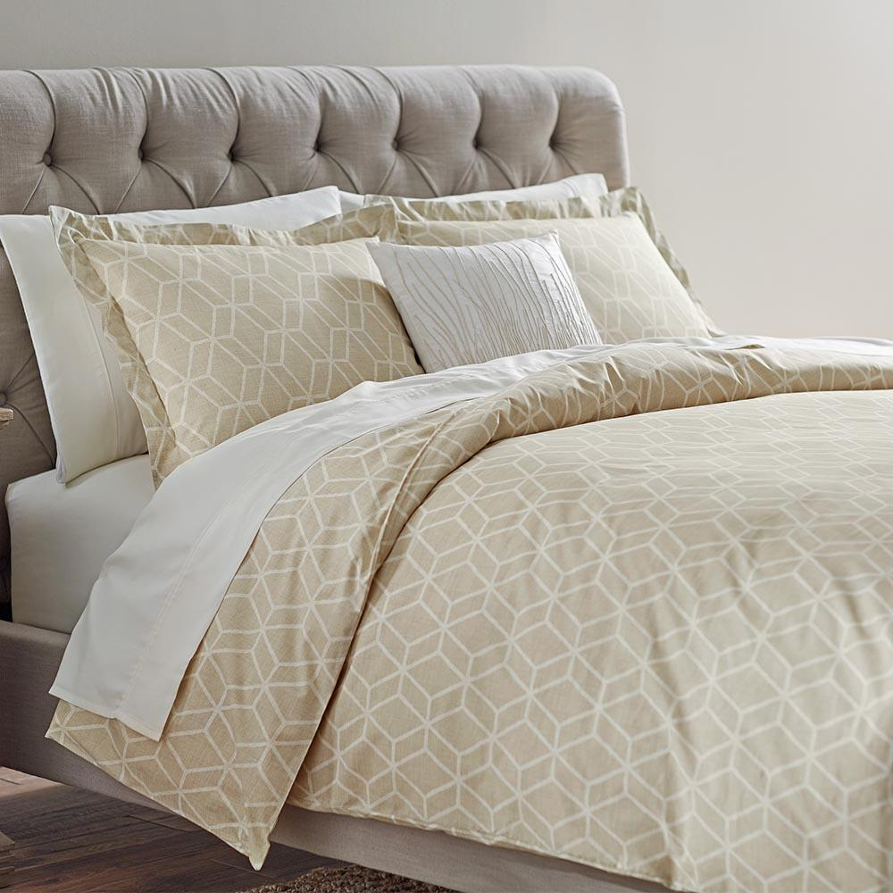 Home Decorators Collection Geome Putty Twin Duvet