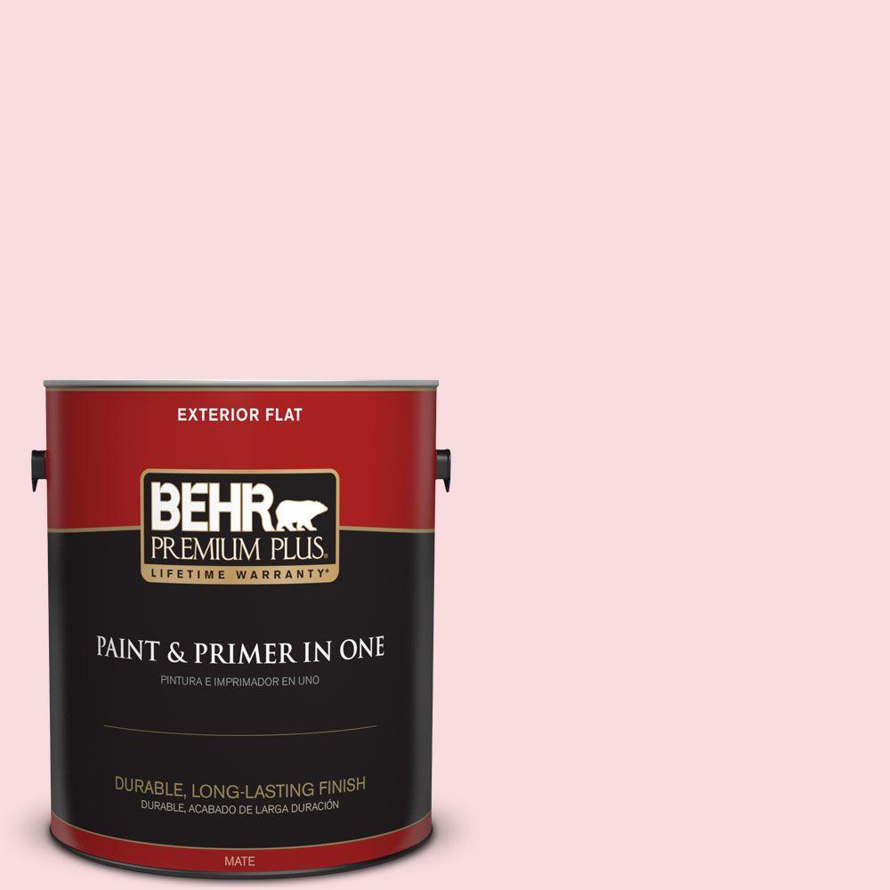 BEHR Premium Plus 1-gal. #160C-1 Floral Linen Flat Exterior Paint