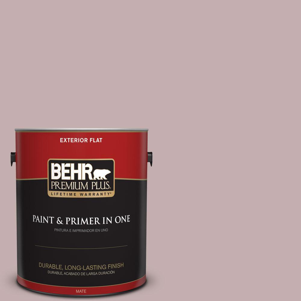 BEHR Premium Plus 1-gal. #N130-3 Moonlit Mauve Flat Exterior Paint