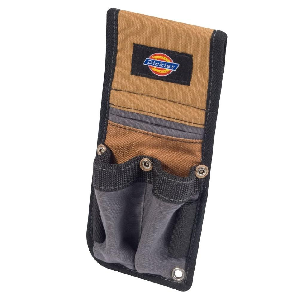 Dickies 3-Pocket Tool Belt Pouch / Accessory Holder, Tan