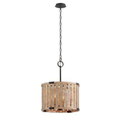 Stix 4-Light Antique Gold Leaf Pendant