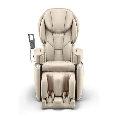 Ivory Modern Synthetic Leather Premium Made in Japan 4D Massage Chair