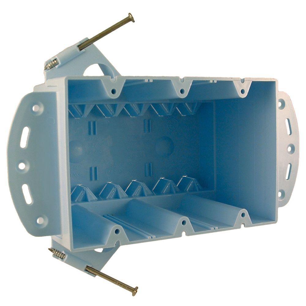 3-Gang Non-Metallic Large Capacity Box, 3-7/8 in. Deep (50-Pack)