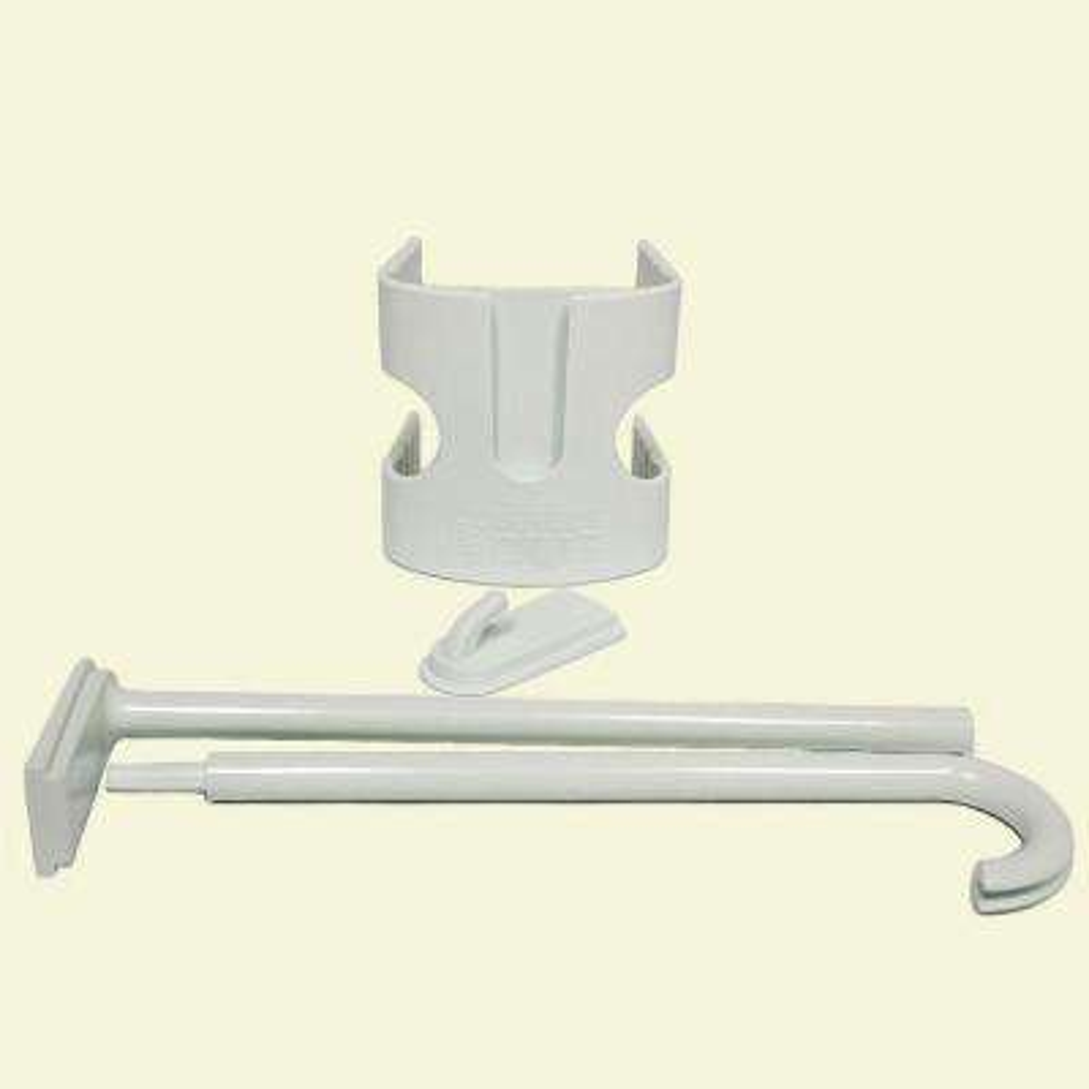 3 in. White Plastic Flag Pole Bracket