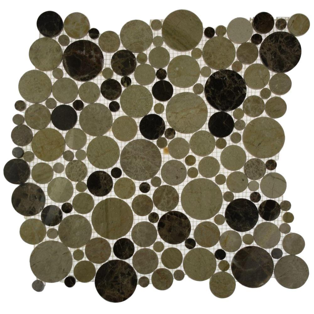 Orbit Woodland Circles 12 in. x 12 in. x 8 mm