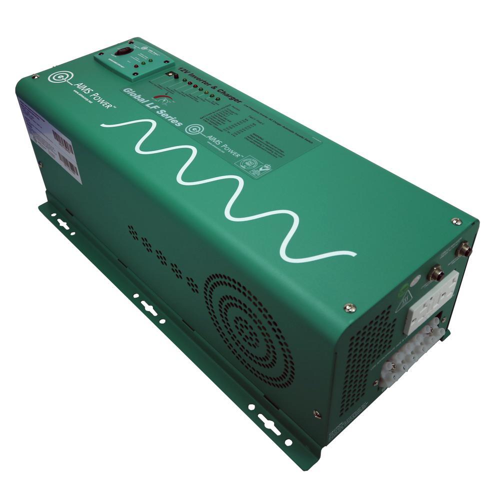 2 500 Watt Pure Sine Inverter Charger 12 Volt Dc To 120