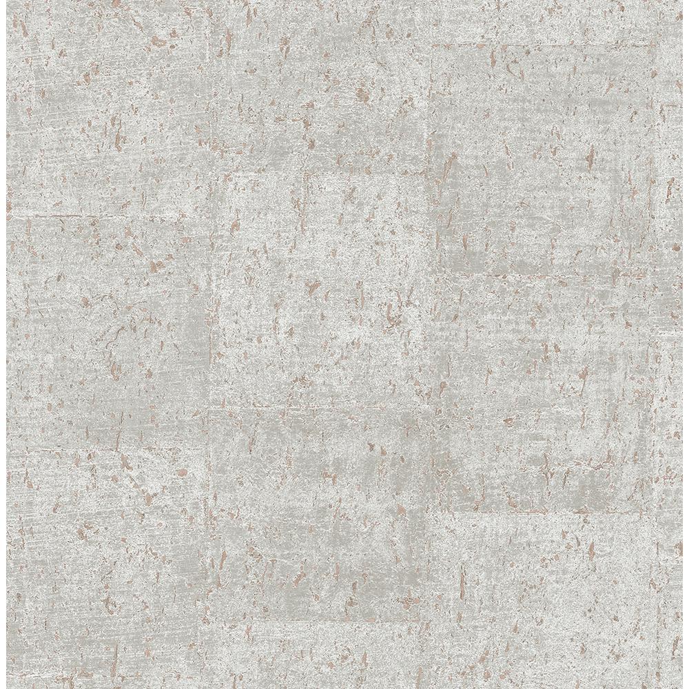 8 in. x 10 in. Millau Light Grey Faux Concrete Wallpaper Sample