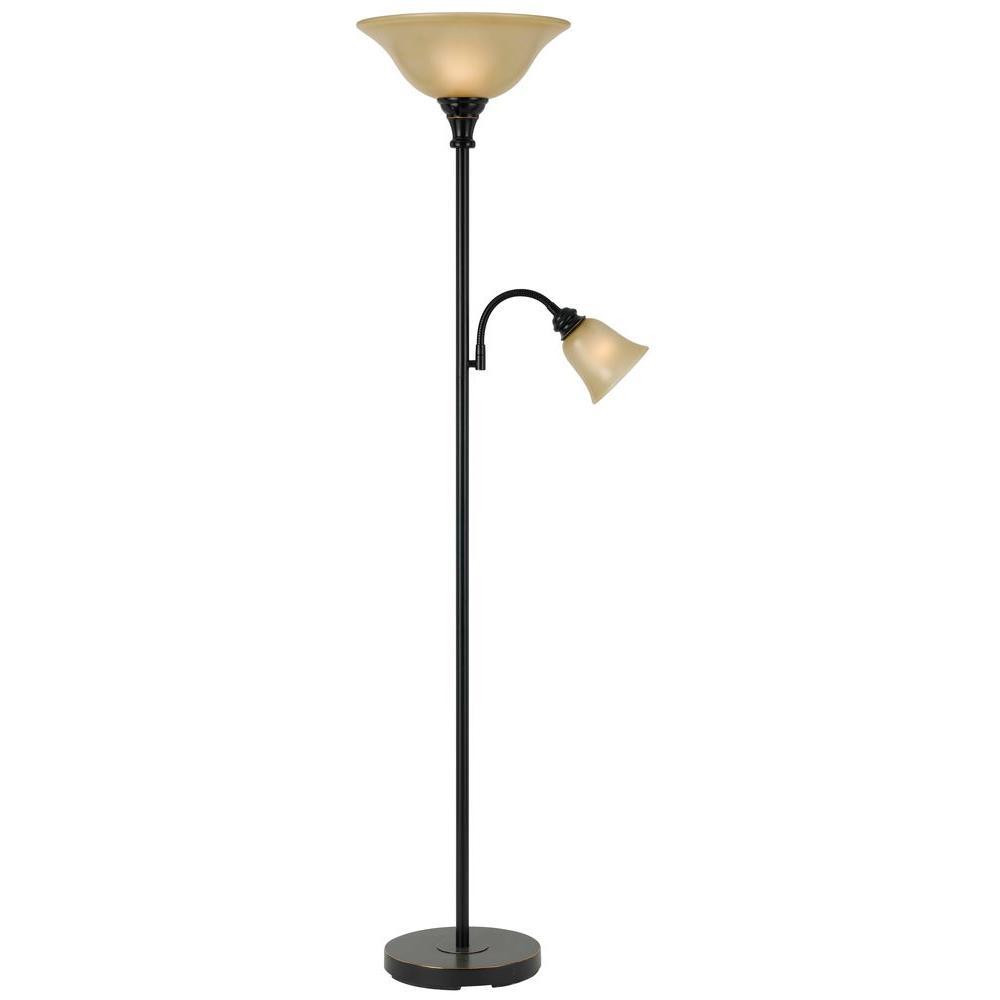 Cal lighting cooper 71 in dark bronze floor lamp bo 2391tr db the cal lighting cooper 71 in dark bronze floor lamp mozeypictures Choice Image