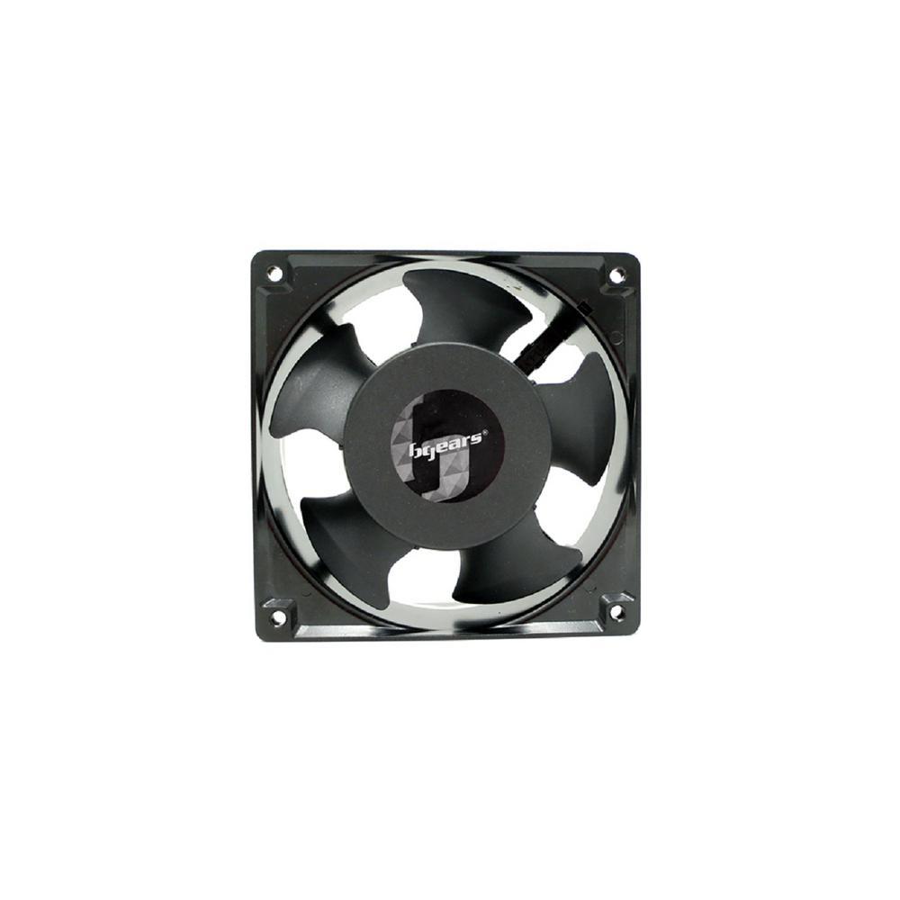 b-Blaster AC 120 mm x 38 mm 2-Ball Bearing High Speed 2800RPM 100-125-Volt AC Fan, Black
