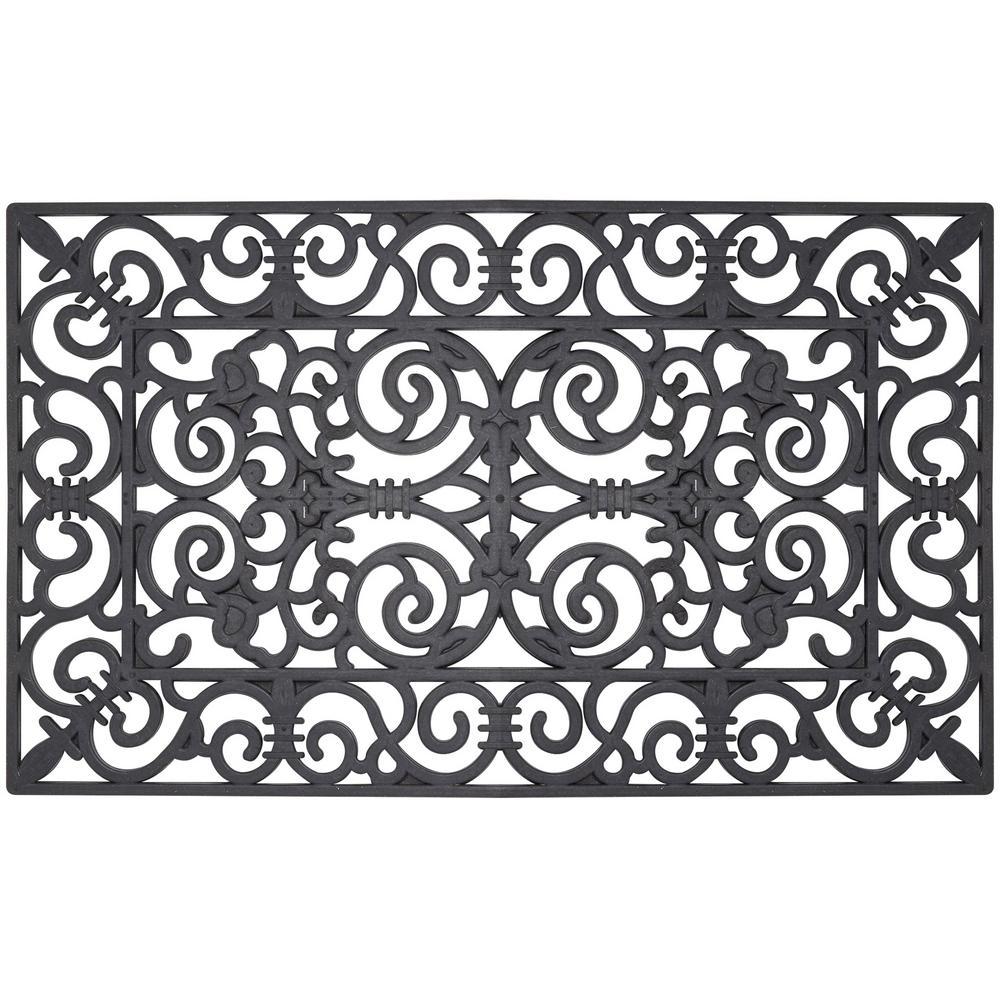Envelor Wrought Iron Collection Fleur De Lis 30 In X 18