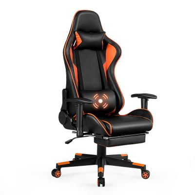 Gaming Chair High Back Racing Recliner Office Chair w/Lumbar Support & Footrest Black