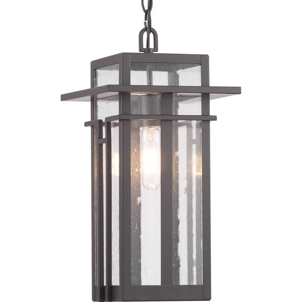 Boxwood Collection Antique Bronze 1-Light Hanging Lantern