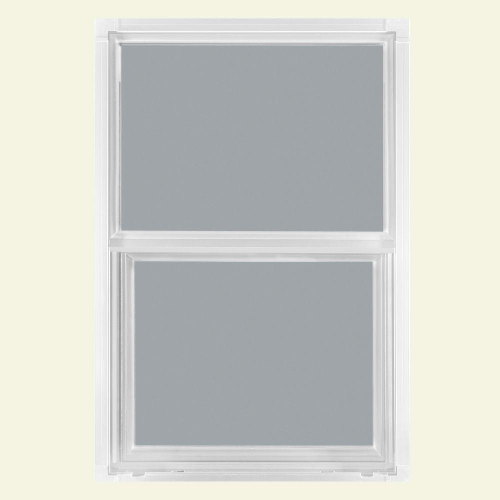 JELD-WEN 26.5 in. x 37.5 in. Builders Atlantic Single Hung Aluminum Window - White