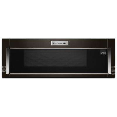 1.1 cu. ft. Over the Range Low Profile Microwave Hood Combination in Print Shield Black Stainless
