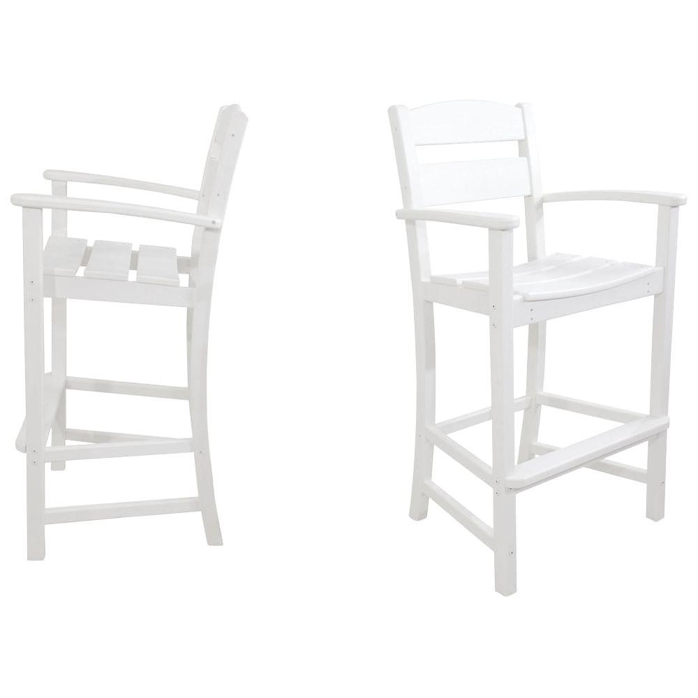 Ivy Terrace Classics White 2 Piece Plastic Outdoor Patio