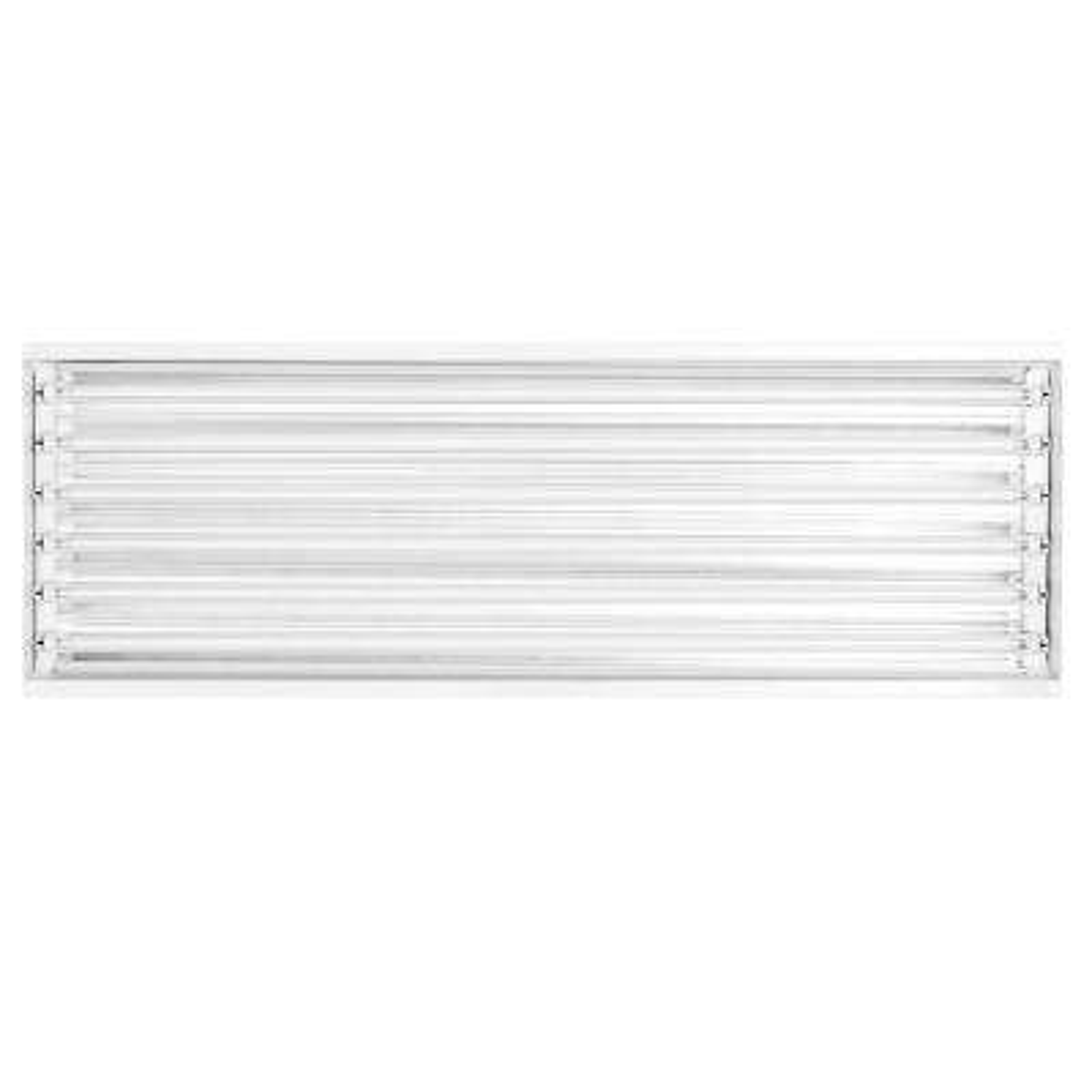 4 ft. 6-Light White LED High Bay 5000K (LED Tubes Included)