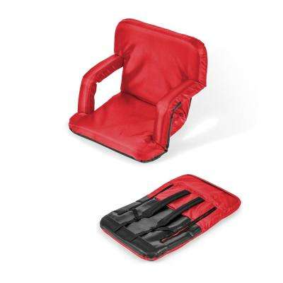 Portable Multiuse Adjustable Red Recliner Stadium Chair