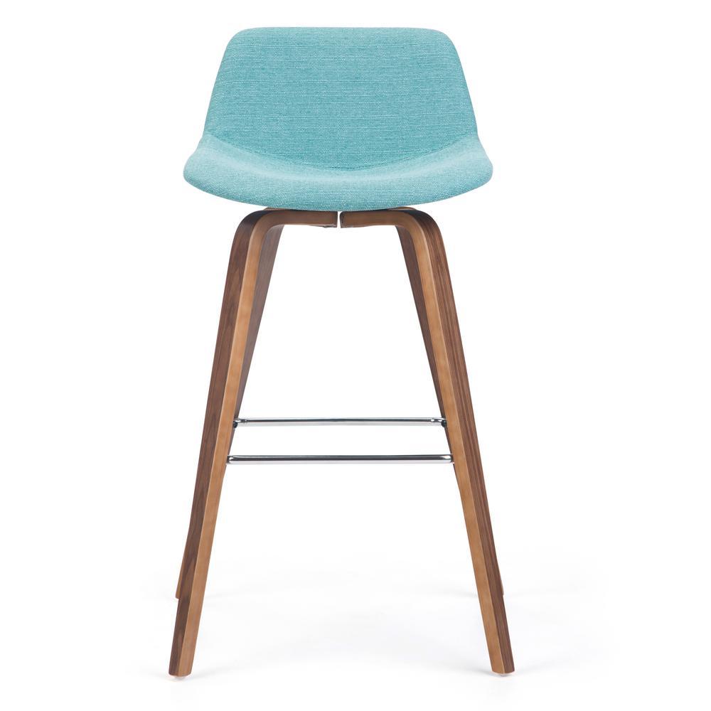Pleasing Simpli Home Randolph 36 6 In Aqua Blue Linen Look Fabric Cjindustries Chair Design For Home Cjindustriesco