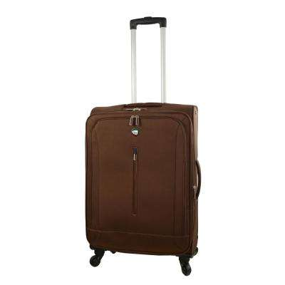 Tena 24 in. Brown Soft Side Spinner Suitcase