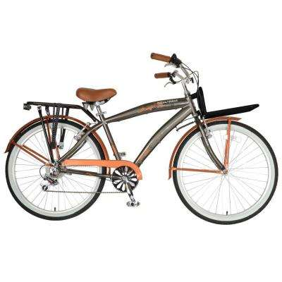 M1 Land Cruiser Bicycle, 26 in. Wheels, 18 in. Frame, Men's Bike in Orange/Grey