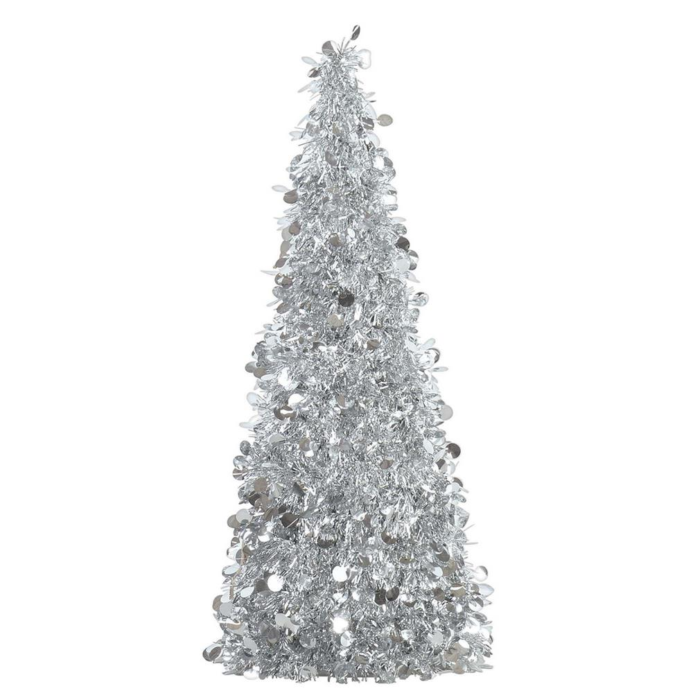 Amscan 18 In. Silver Tinsel Tree Centerpiece (2-Pack