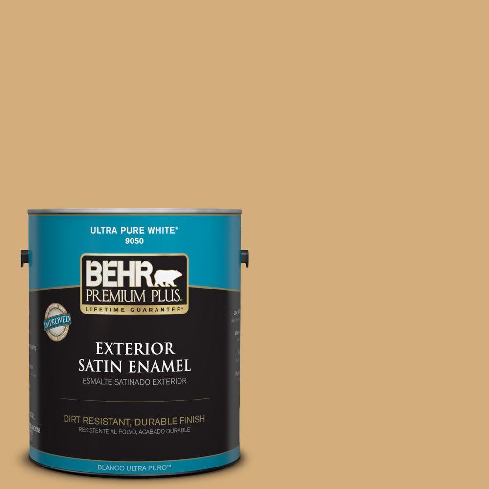BEHR Premium Plus 1-gal. #310F-4 Rye Satin Enamel Exterior Paint